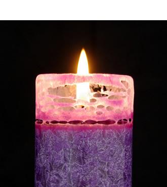 kerze-rund-violett